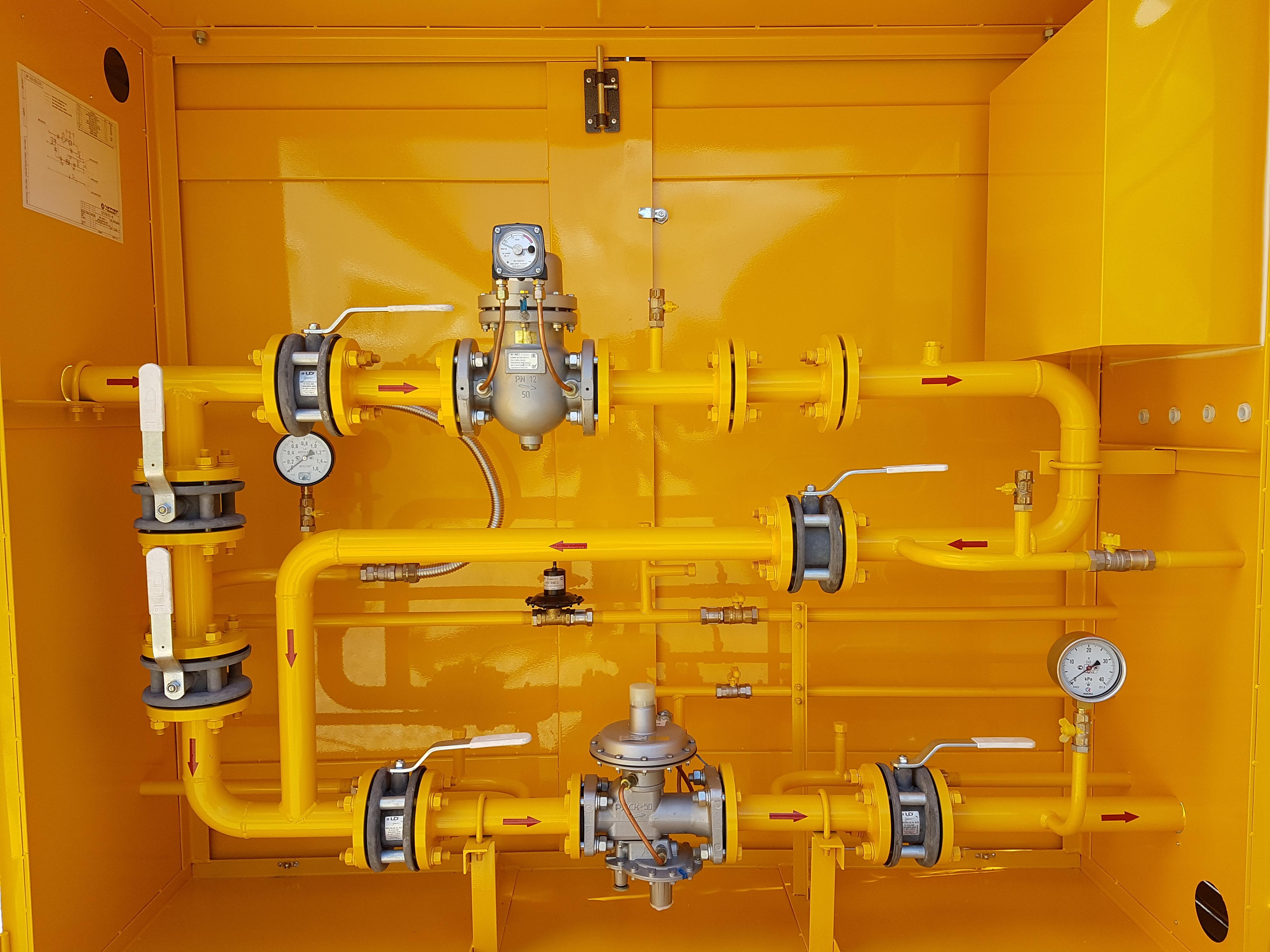 УГРШ-50В-2М - газорегуляторный пункт с регулятором-монитором